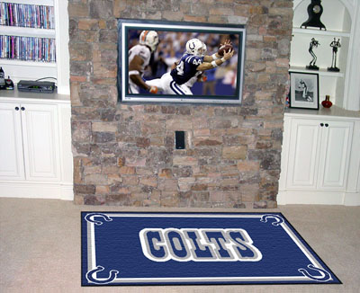 Indianapolis Colts 5 Foot x 8 Foot Rug