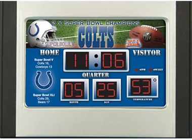 Indianapolis Colts Alarm Clock Desk Scoreboard