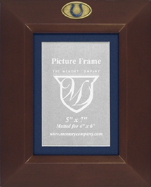 Indianapolis Colts BROWN Portrait Picture Frame