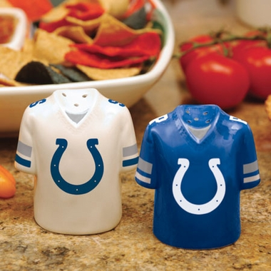 Indianapolis Colts Ceramic Jersey Salt and Pepper Shakers