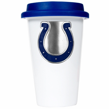 Indianapolis Colts Ceramic Travel Cup (Team Color Lid)