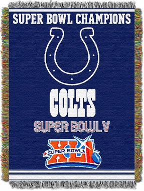 Indianapolis Colts Commerative Woven Tapestry Blanket