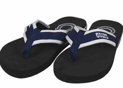 Indianapolis Colts Contoured Flip Flop Sandals - Large