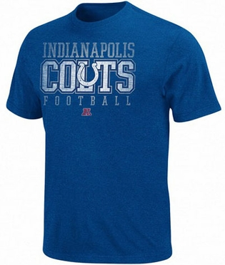 Indianapolis Colts Distressed Posted Premium T-Shirt