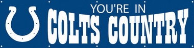 Indianapolis Colts Eight Foot Banner
