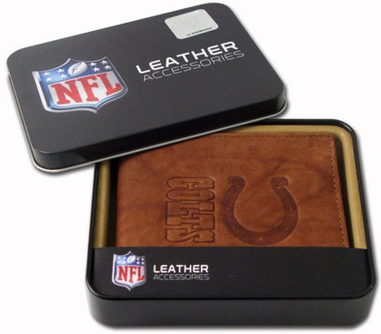 Indianapolis Colts Embossed Leather Bifold Wallet