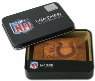 Indianapolis Colts Embossed Leather Trifold Wallet