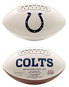 Indianapolis Colts Embroidered Signature Series Football