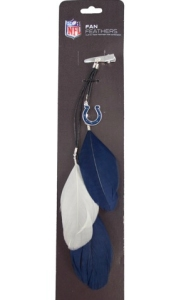 Indianapolis Colts Feather Hair Clip