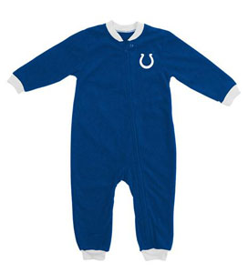 Indianapolis Colts Fleece Toddler Sleeper Pajamas - 3T
