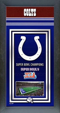 Indianapolis Colts Framed Championship Banner