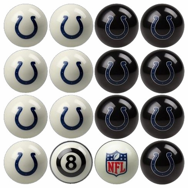 Indianapolis Colts Home and Away Complete Billiard Ball Set