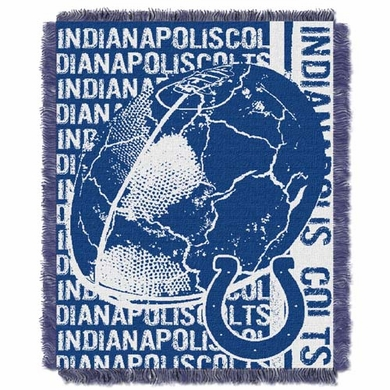 Indianapolis Colts Jacquard Woven Throw Blanket