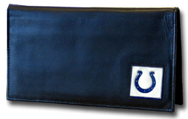 Indianapolis Colts Leather Checkbook Cover