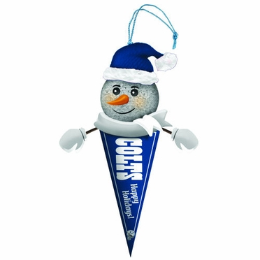 Indianapolis Colts Light Up Snowman Pennant Ornament (Set of 3)