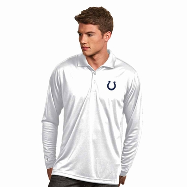Indianapolis Colts Mens Long Sleeve Polo Shirt (Color: White)