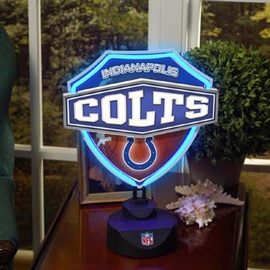 Indianapolis Colts Neon Shield Table Lamp