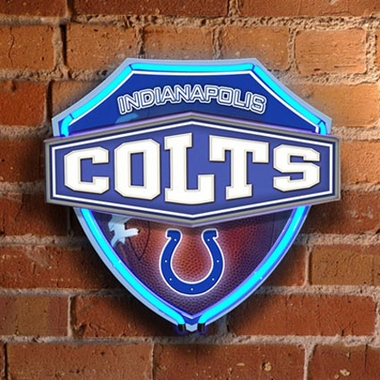Indianapolis Colts Neon Shield Wall Lamp