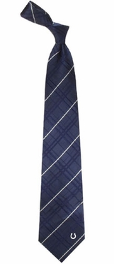 Indianapolis Colts Oxford Stripe Woven Silk Necktie