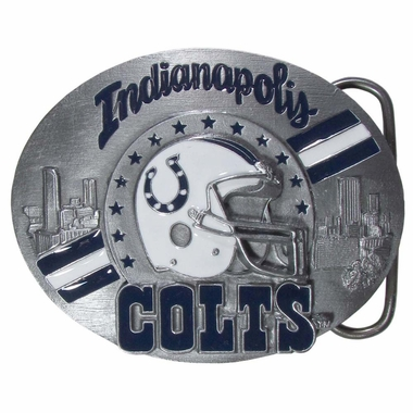 Indianapolis Colts Enameled Belt Buckle