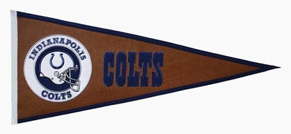 Indianapolis Colts Pigskin Pennant