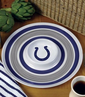 Indianapolis Colts Plastic Chip and Dip Plate