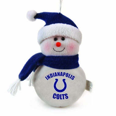 Indianapolis Colts Plush Snowman Ornament (Set of 3)