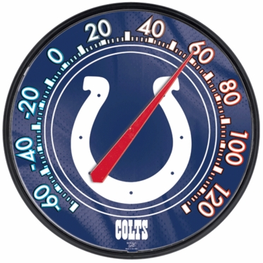 Indianapolis Colts Round Wall Thermometer