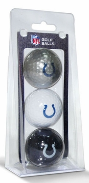 Indianapolis Colts Set of 3 Multicolor Golf Balls
