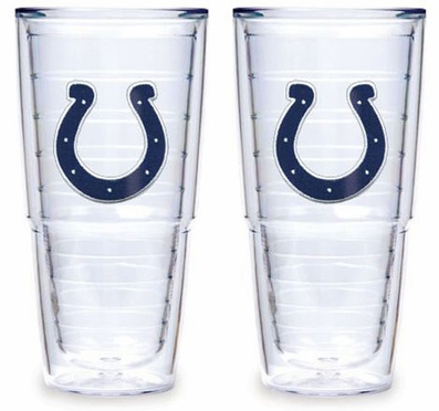 """Indianapolis Colts Set of TWO 24 oz. """"Big T"""" Tervis Tumblers"""