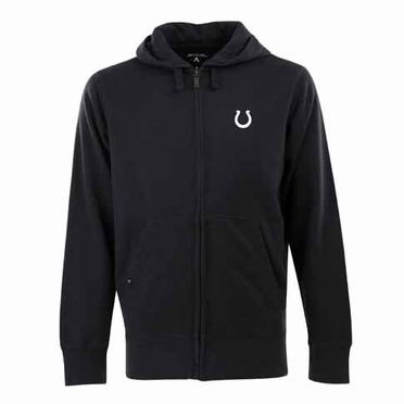 Indianapolis Colts Mens Signature Full Zip Hooded Sweatshirt (Alternate Color: Black)