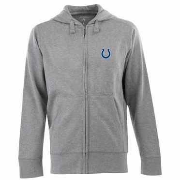 Indianapolis Colts Mens Signature Full Zip Hooded Sweatshirt (Color: Gray)