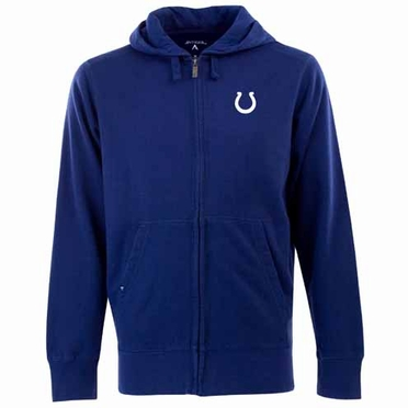 Indianapolis Colts Mens Signature Full Zip Hooded Sweatshirt (Team Color: Royal)