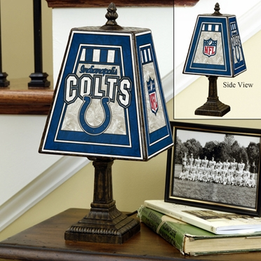Indianapolis Colts Small Art Glass Lamp