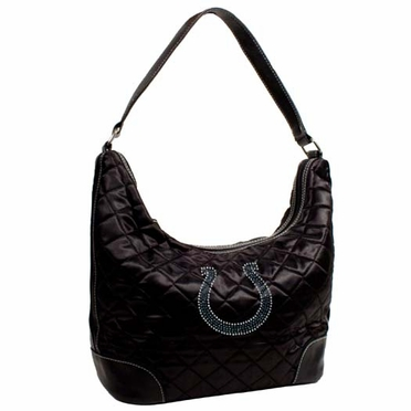 Indianapolis Colts Sport Noir Quilted Hobo