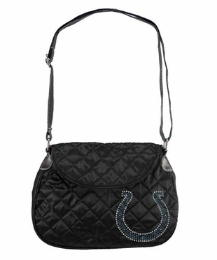 Indianapolis Colts Sport Noir Quilted Saddlebag