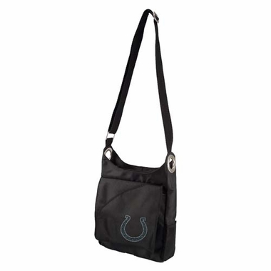 Indianapolis Colts Sport Noir Sheen Crossbody Bag