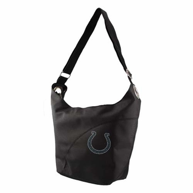 Indianapolis Colts Sport Noir Sheen Hobo Purse