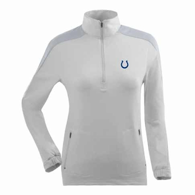 Indianapolis Colts Womens Succeed 1/4 Zip Performance Pullover (Color: White)