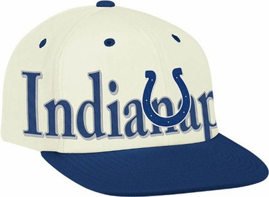 Indianapolis Colts Team Name and Logo Snapback Hat