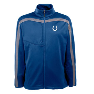Indianapolis Colts Mens Viper Full Zip Performance Jacket (Team Color: Royal)