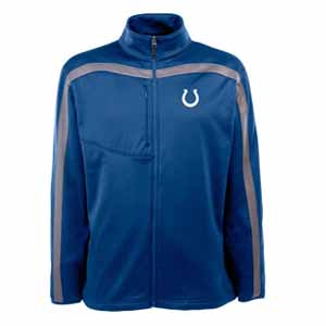 Indianapolis Colts Mens Viper Full Zip Performance Jacket (Team Color: Royal) - Large