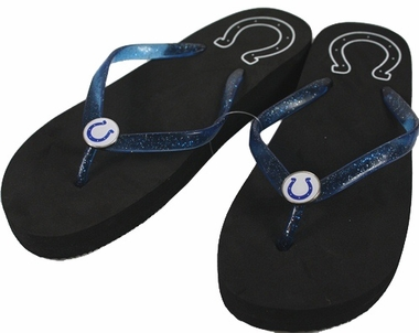 Indianapolis Colts Wedge Flip Flops