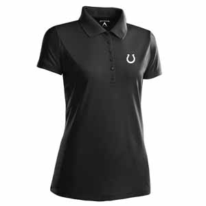 Indianapolis Colts Womens Pique Xtra Lite Polo Shirt (Alternate Color: Black) - Large