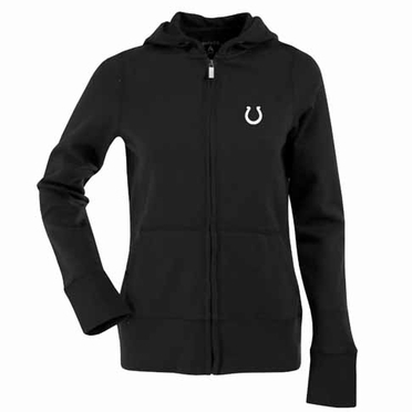 Indianapolis Colts Womens Zip Front Hoody Sweatshirt (Alternate Color: Black)