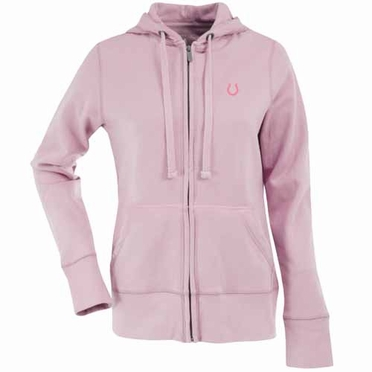 Indianapolis Colts Womens Zip Front Hoody Sweatshirt (Color: Pink)