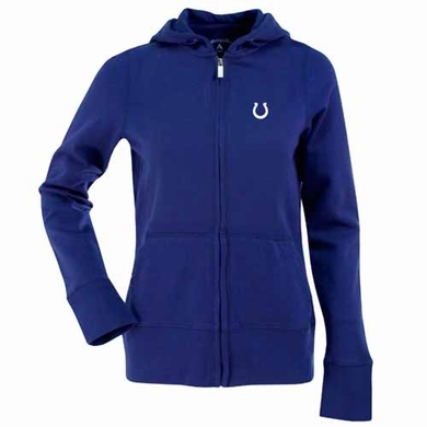 Indianapolis Colts Womens Zip Front Hoody Sweatshirt (Team Color: Royal)