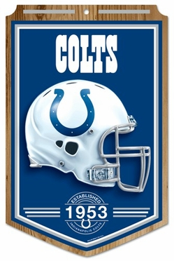 Indianapolis Colts Wood Sign
