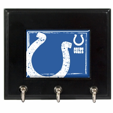 Indianapolis Colts Wooden Keyhook Rack