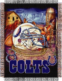 Indianapolis Colts Woven Tapestry Throw Blanket